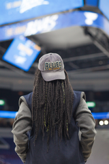 St Louis Blues Hat Coat Braids