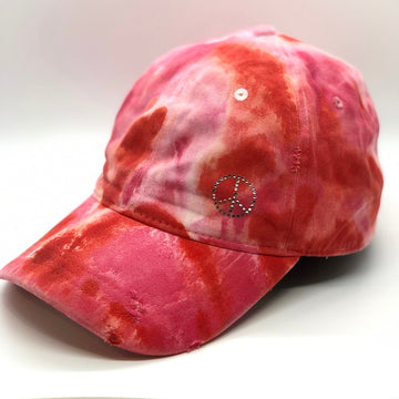 Distressed Red Marble Dye Hat - ROCKS