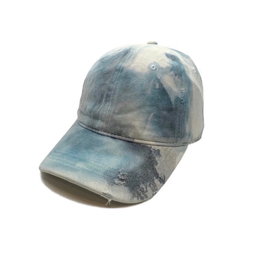 Distressed Blue Marble Dye Hat
