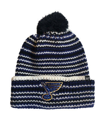 Blinged St. Louis Cardinals Beanie Knit Hat Pom Navy Blue Black White