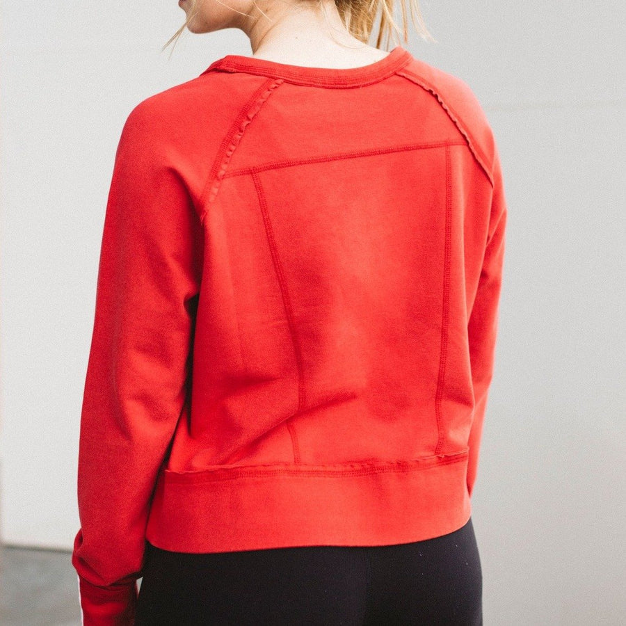 Burner Red Charlie Croppy Sweatshirt Back View