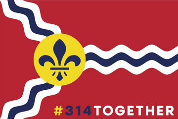 #314TOGETHER - St. Louis Flag Sticker
