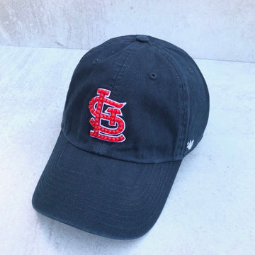 Classic STL Navy Clean up w/ Red Swarovski Crystals