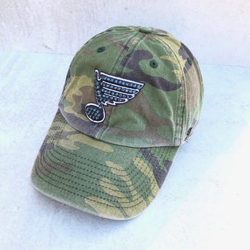 Bluenote 47' Blues Camo Hat - Bling