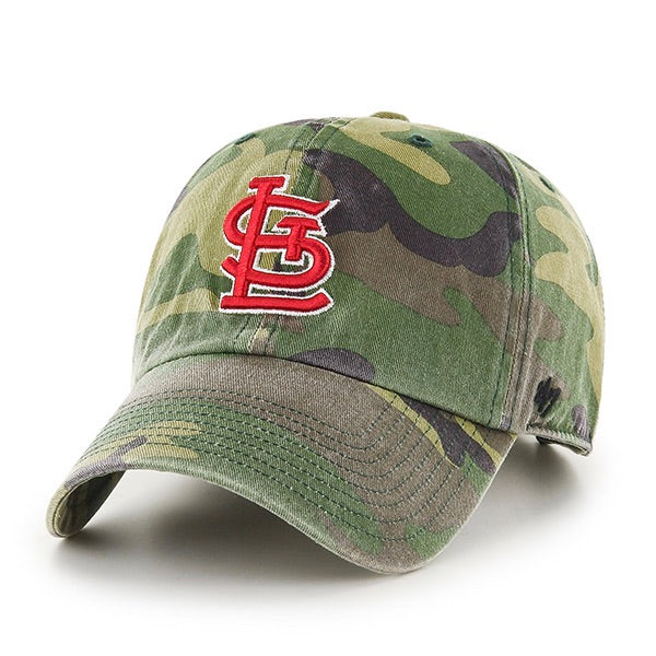 '47 STL Cards Camo Clean Up with Red Logo