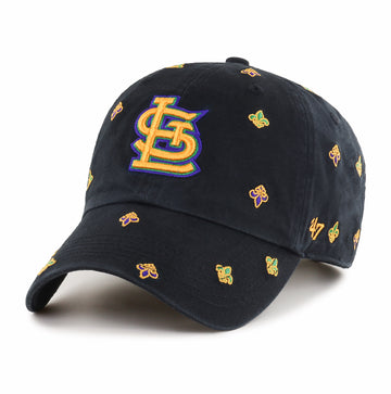 St. Louis Cardinals Baseball Hat Mardi Gras Black Yellow