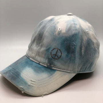 Distressed Blue Marble Dye Hat - ROCKS