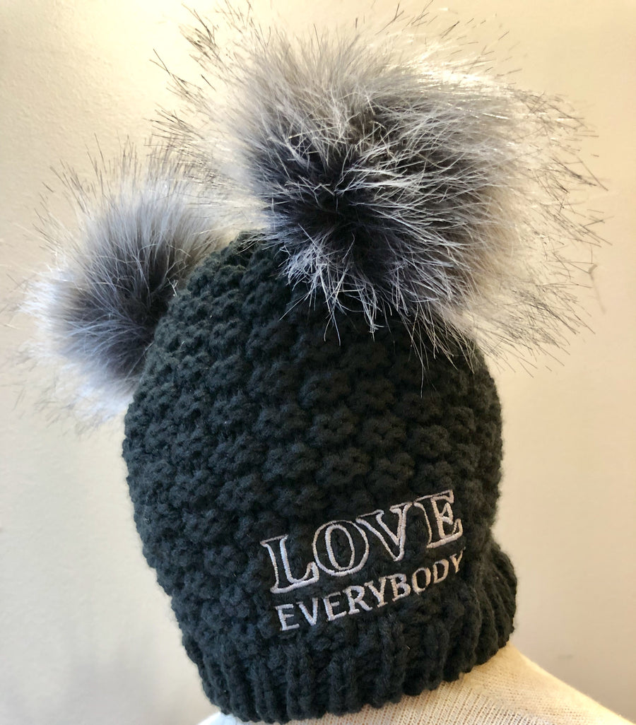 Love Everybody Double Pom Beanie Pitch