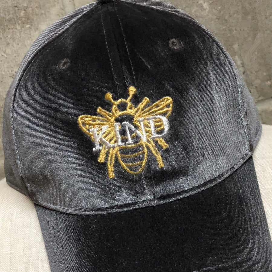 be bee kind velvet cap hat