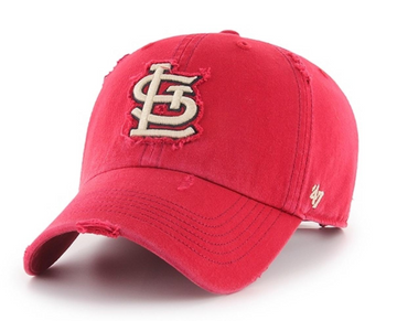 Red and White STL Cardinals Hat Cap