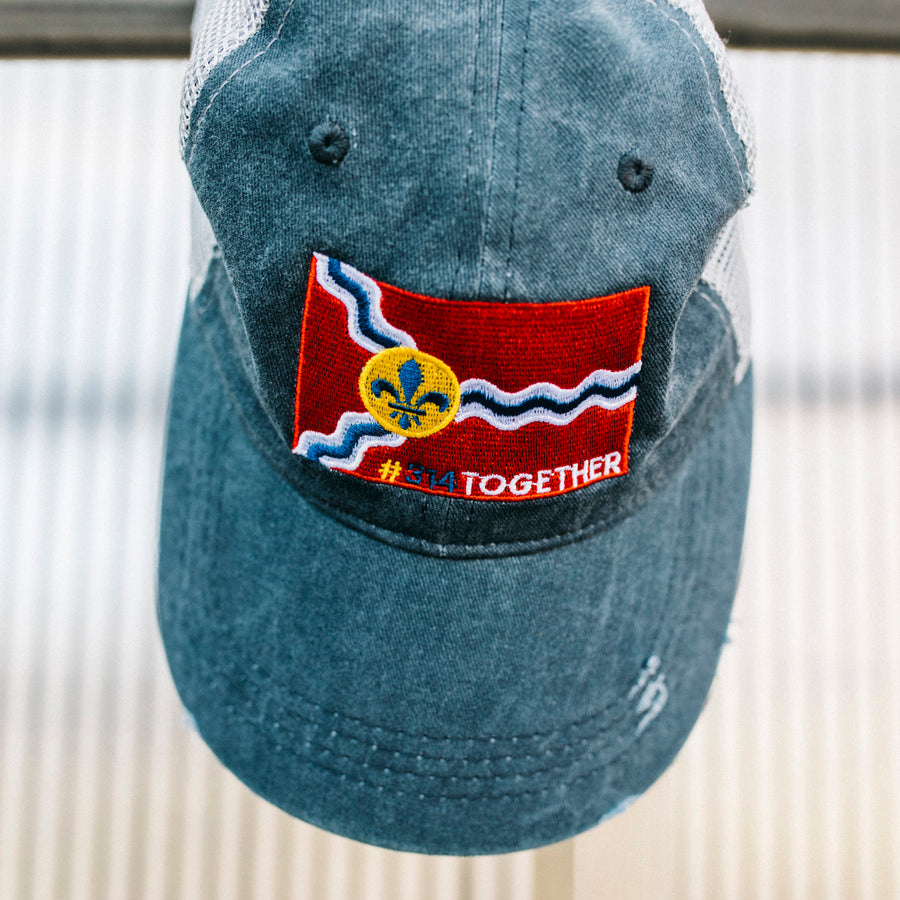 #314TOGETHER STL Flag Charcoal 'Johnnie' Hat