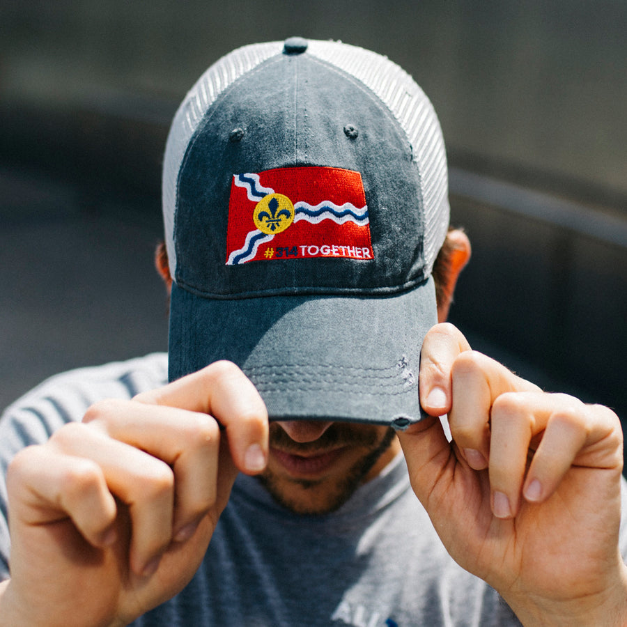 st louis flag patch hat #314together 314 hat