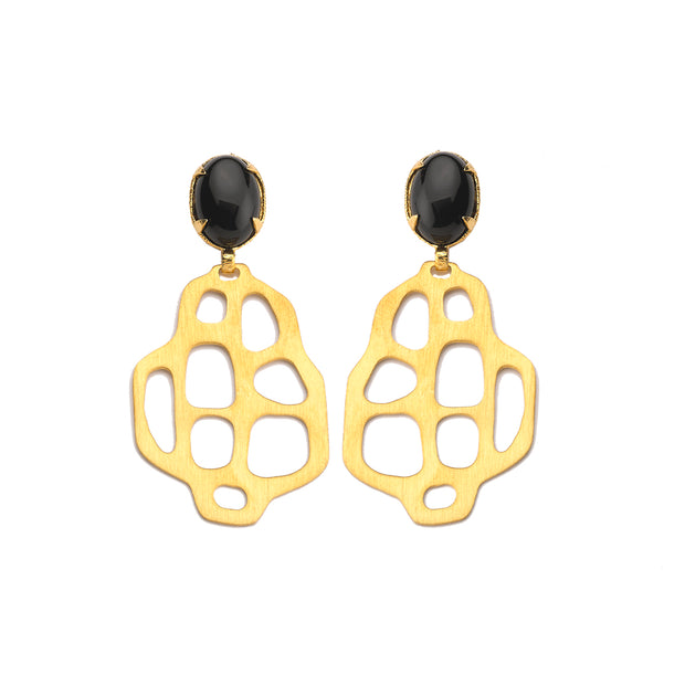 Avalon Earrings Black