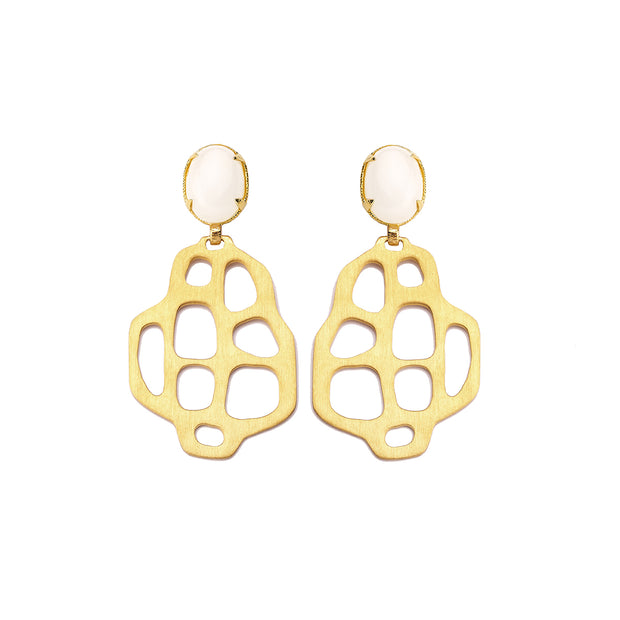 Avalon Earrings White