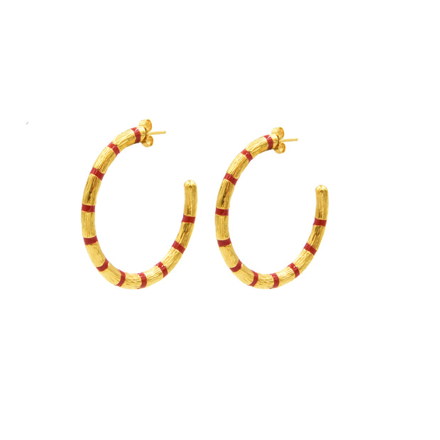 Blake Bamboo Hoops Large Red