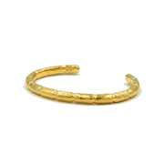 Blake Bamboo Bangle Gold Mens