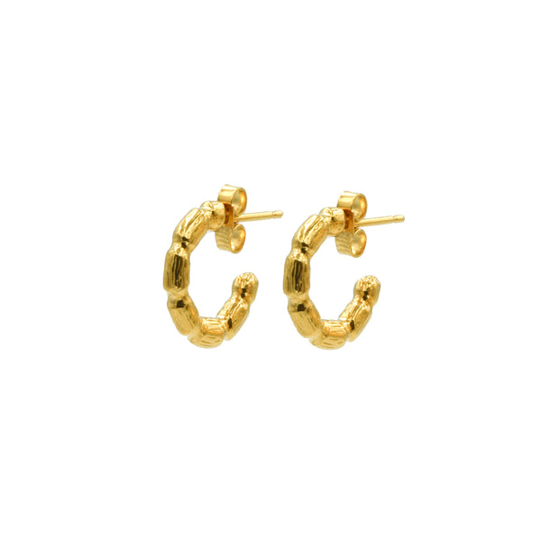 Blake Bamboo Mini Hoops Gold