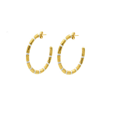 Blake Bamboo Hoops Large White