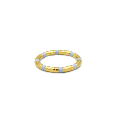 Blake Bamboo Ring Blue