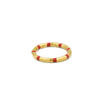 Blake Bamboo Ring Red