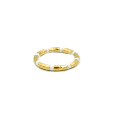 Blake Bamboo Ring White