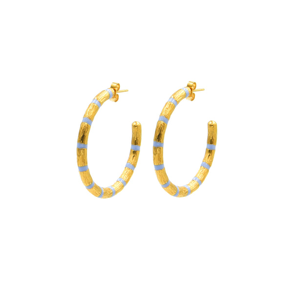 Blake Bamboo Hoops Large Blue