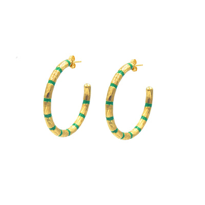 Blake Bamboo Hoops Large Emerald