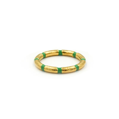 Blake Bamboo Ring Emerald