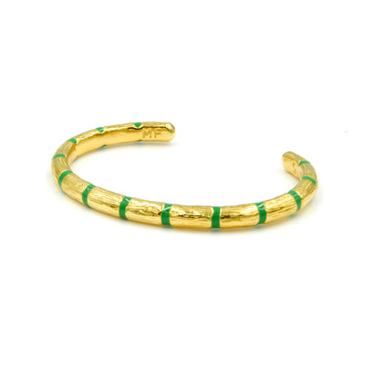 Blake Bamboo Bangle Emerald