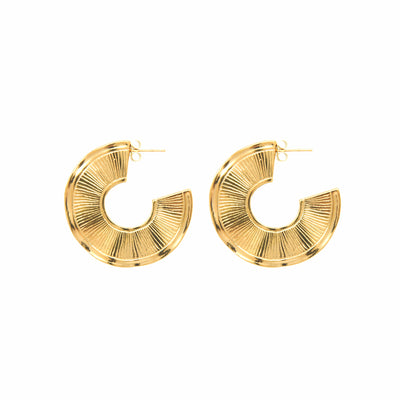 Brooke Hoops Gold