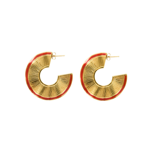 Brooke Hoops Red