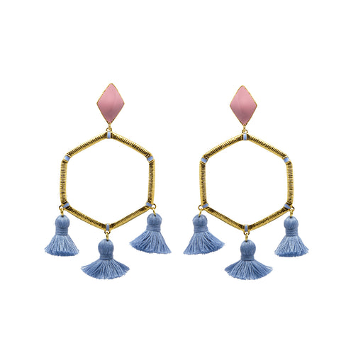 Cooper Earrings Denim