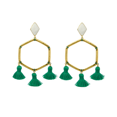 Cooper Earrings Green