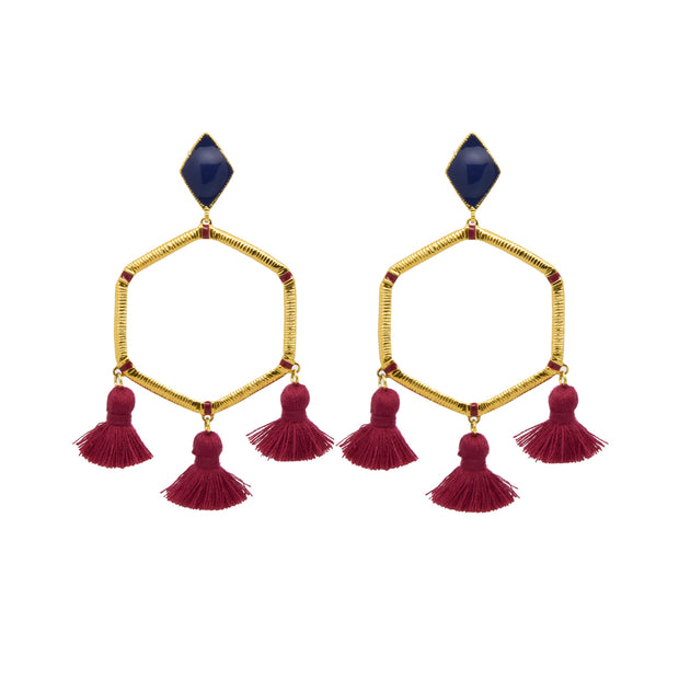 Cooper Earrings Navy