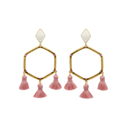 Cooper Earrings Blush