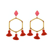 Cooper Earrings Red