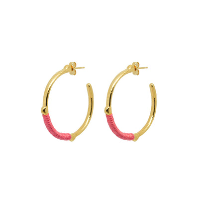 Dido Hoops Hot Pink