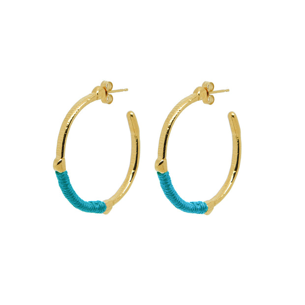 Dido Hoops Peacock