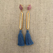 Izzy Earrings Denim