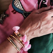 Raquel Tassel Bangle Bubblegum