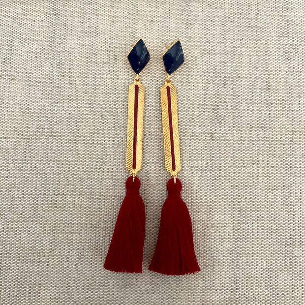 Izzy Earrings Navy