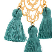 Rita Tassel Earrings Verdigris