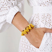 Raquel Tassel Bangle Mustard