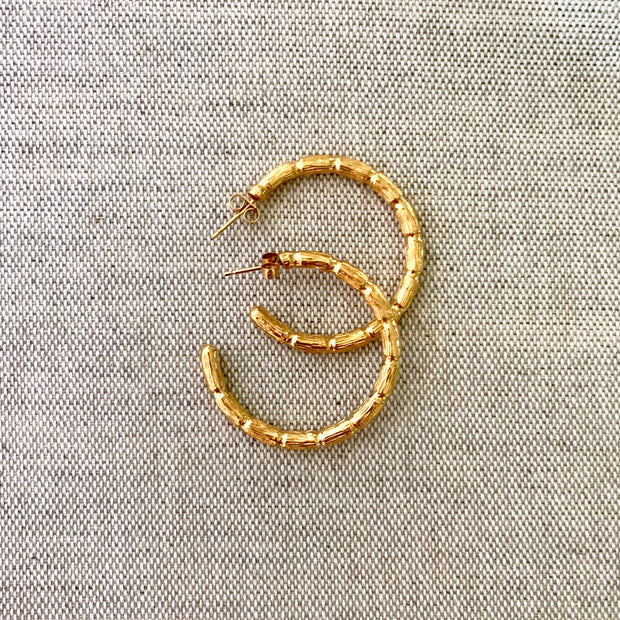 Blake Bamboo Hoops Large Gold