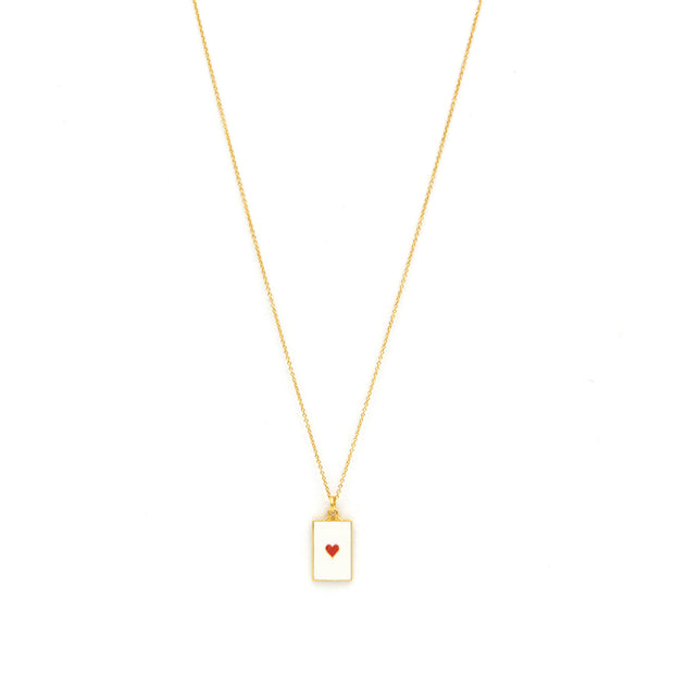 Love Tag Necklace Red