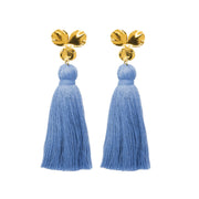 Margo Tassel Earrings Denim