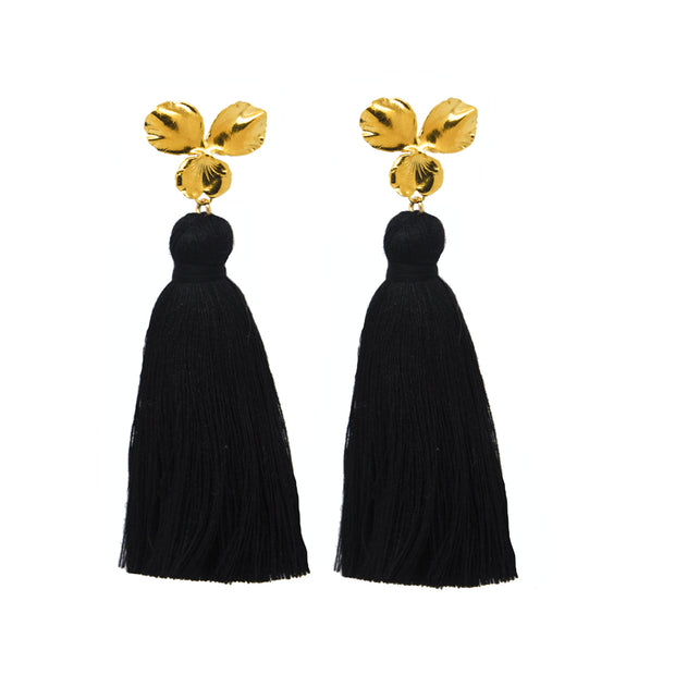Margo Tassel Earrings Black