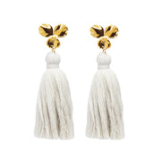 Margo Tassel Earrings Ivory