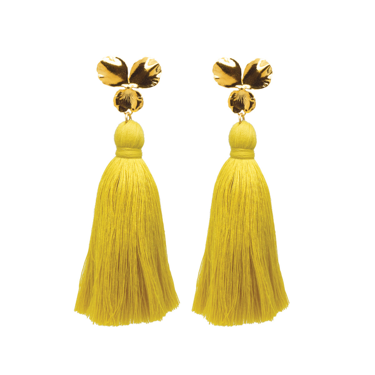 Margo Tassel Earrings Pineapple