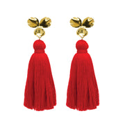 Margo Tassel Earrings Red